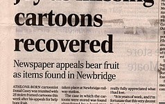 Cartoon theft press cuttings and screen grabs