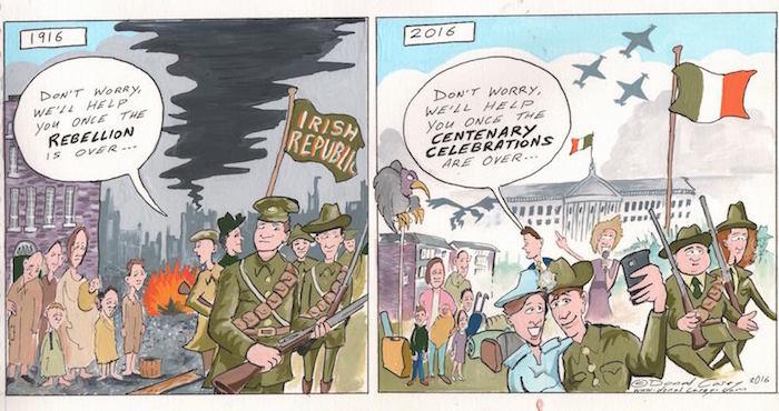 1916 Rising Centenary Cartoon